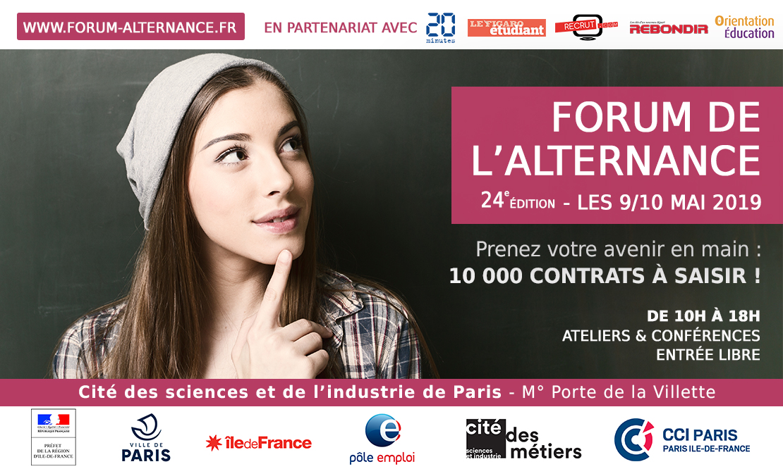 Forum de l'alternance 9/10 mai 2019